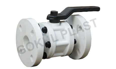 PP Ball Valves Flange End Exporter in Ahmedabad